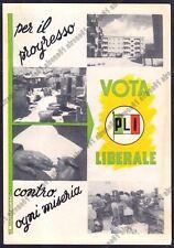 PARTITO LIBERALE ITALIANO 03 PLI ELEZIONI Cartolina POLITICA