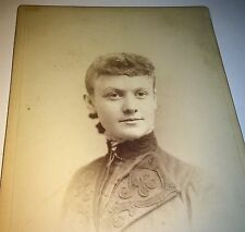 Antique ID'd Pate Victorian American Woman Fancy Fashion Dress Old Cabinet Photo