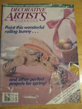 Decorative Artists Workbook APRIL 1989 Good Preowned Condition FREE PATTERNS