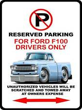 1958 Ford F-100 Pickup Truck Car-toon No Parking Sign NEW