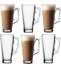 6 x LATTE GLASSES TEA COFFEE CAPPUCCINO GLASS CUP HOT DRINK MUGS BRAND NEW