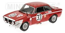 Minichamps 100 721233 ALFA ROMEO GIULIA GTA JUNIOR AUTO MODELLO 1300 vincitori 1972 1:18th