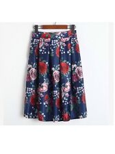 Handmade Cath Kidston Skirt Dress Navy With Garden Rose Pattern