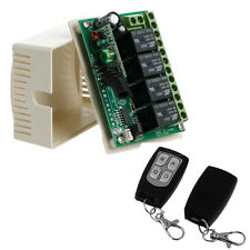 DC 12V 4CH Relay Wireless RF Remote Control on off Switch 2 Transmitter+Receiver