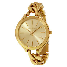 Michael Kors Slim Runway Gold-tone Ladies Watch MK3222