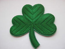 "Large Irish Shamrock Iron On Patches Appliques 7.5cm (3 1/4"")  St Patrick's Day"