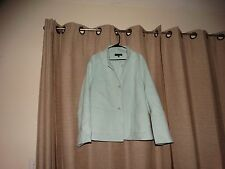 TALBOTS WOMAN sz 22W 22 W pale blue lighter weight coat wool blend excellent