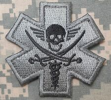 PIRATE MEDIC TACTICAL EMT EMS US MILITARY USA ARMY MORALE ACU HOOK PATCH