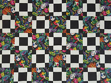 Unfinished Quilt Top- Black & White Chain, with Assorted Masks, approx 64 x 80