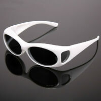 Night Driving Polarized wrap around Sunglasses Clip on Glasses fit over Goggles