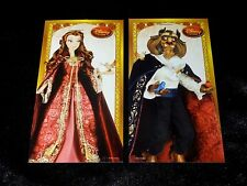 Disney Store Beauty And The Beast LE Doll Claim Voucher Set Of 2 BELLE BEAST
