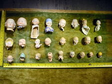 25 x small excavated damaged lovely painted vintage doll head age 1890 Limbach