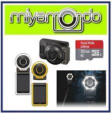 Casio Exilim FR100 + Sandisk Ultra MicroSD 32GB + EAM-4 + EAM-7 (Yellow)