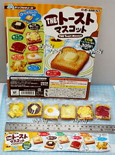 Miniatures The Toast Mascot Keychain, 6pcs + Display Card - Re-ment Gashapon  h#