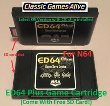 Latest Nintendo N64- ED64 Plus Game Cartridge (Pokemon Stadium, Super Smash Bro)