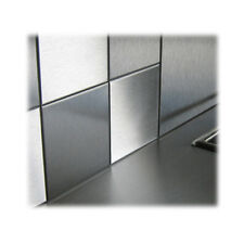 100 x Single Stainless Steel Square Bathroom/Kitchen Tiles - 100mm x 100mm