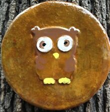 Owl 8, plaque, stepping stone,  plastic mold, concrete mold, cement, plaster