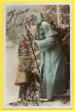 cpa Edition ELD JOYEUX NOËL Enfant Père Noël Sapin Hotte Cadeau SANTA CLAUS