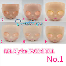 "Takara 12"" Neo Blythe RBL FACE SHELL & head back Factory Nude doll Custom parts"