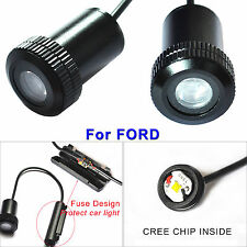 4X CREE LED Car Laser 3D Logo Projector Shadow Lamps Door Step Lights for FORD