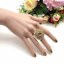 Indian Bridal/Party Wear Adjustable Polki Ring .