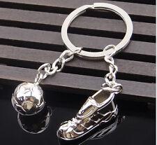 3D Sports Keychain Keyring Key Chain Ring Key Fob ball soccer foot & football