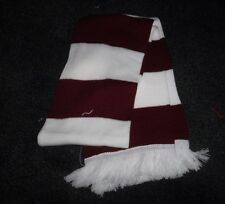 HORSE RACING SCARF MAROON AND WHITE