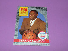 390 DERRICK COLEMAN N.J. NETS LOTTERY PICK 1990 NBA HOOPS BASKETBALL DRAFT