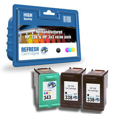 Everyday Valuepack - 3 Remanufactured HP 338 and HP 343 Ink Cartridges