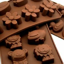 Silicone Chocolate Candy Mold Animal Flower  Rubber Duck Set Ice Cube Mould x3