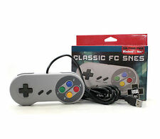 Snes USB Classic Famicom Controller Joypad For All PC/MAC Super Nintendo Games