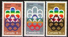 Canada 1974 ScB1-3  Mi556-58 1.70 MiEu  3 v   mnh  1976 Olympics,Montreal