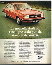 Publicité Advertising 1976 Audi 80
