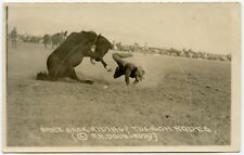 1920s Postcard of Bareback Riding at Tucson, Arizona Rodeo by R.R. Doubleday