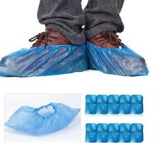 100pcs Indoor Disposable Plastic Rain Waterproof Protection Shoe Covers Blue Z