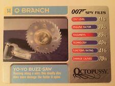 Yo-Yo Buzz Saw Octopussy #14 Q Branch - 007 James Bond Spy Files Card