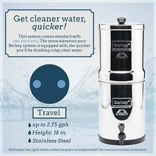 TRAVEL BERKEY Water Purification System w/ 2 Black Elements Filters!