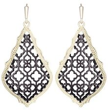 Kendra Scott Addie Teardrop Dangle Earrings in Gold Plated & Gunmetal Filigree