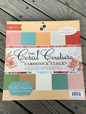 "DCWV PAPER STACK 12""X12"" 48/PKG CARDSTOCK STOCK CORAL COUTURE"