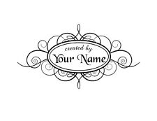 UNMOUNTED PERSONALIZED CREATED BY CUSTOM RUBBER STAMPS C42