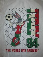 1994 BOSTON World Cup ITALY The World Has Arrived (LG) Soccer T-Shirt BUGS BUNNY