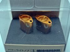 Votex Aluminum Paddle Type Knob Set (2 Pieces) for Shimano & Daiwa / Gold
