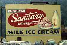 """Vintage 1940-50's  8"""" x 12"""" Color Photo of a Sanitary Dairy Ad. Johnstown PA"""