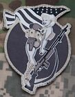 BAR GIRL PINUP COMBAT RIFLE USA VELCRO BADGE MILITARY MORALE PATCH - SWAT