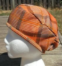 Dashing Orange Medium Size Polyester Beret - Handmade by Michaela