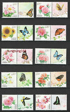 CHINA 2011 Flower stamps Full Special Butterfly