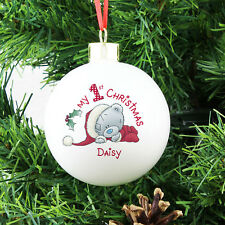 My First Christmas Personalised Christmas Bauble - Official Me To You Product