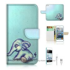 iPod Touch 5 iTouch 5 Flip Wallet Case Cover! S8130 Elephant