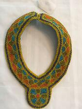Handmade BEADED BIB COLLAR NECKLACE