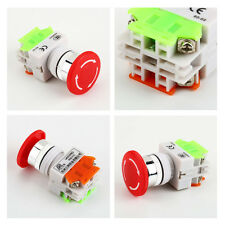 Red Sign Emergency Stop Switch Push Button Mushroom Push Button 4 Screw TerminAX
